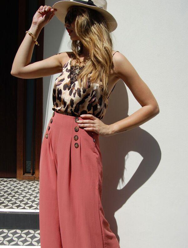 leopard lace pink pants